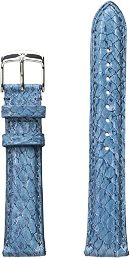 Michele - 18mm Seamist Fish Skin Strap Blue