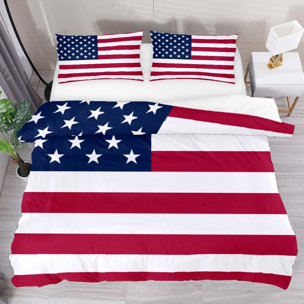 American Flag Comforter Set Soft Duvet Be Fashion Cover Full Piece 3 Brand Cheap Sale Venue