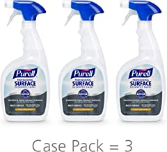 PURELL Professional Surface Disinfectant Spray, Fresh Citrus Scent, 32 fl oz Capped Bottle with Trigger Sprayer (Pack of 3) - 3342-03