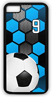 iPhone 6s Phone Case Soccer SC031Z by TYD Designs in Black Rubber Choose Your Own Or Player Jersey Number 9