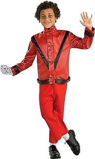 Michael Jackson Child's Deluxe Red Thriller Jacket Costume Accessory, Medium