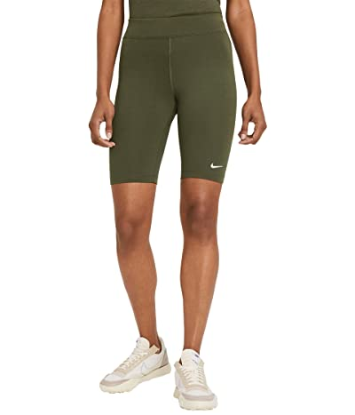 Nike NSW Essential Bike Shorts LBR Mid-Rise (Cargo Khaki/White) Women