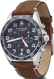 Victorinox - Field Watch Reloj para Hombre Analógico de Cuarzo con Brazalete de Piel de Vaca V241854