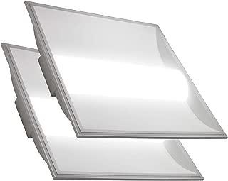 LED 2x2 Center Basket Troffer Panel (2 Pack) 35W; 10 Year Warranty; 4,550 Lumens; 120V-277V AC/DC; 0-10V Dimmable; 50,000 Life Hours; CRI>80; UL/DLC Listed (Cool White 4000K)