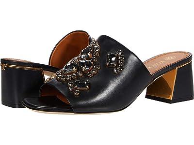 Tory Burch Martine 55 mm Slide (Perfect Black/Black Diamond) Women