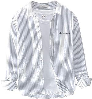 [エスアンドワイ] 5カラー ストライプシャツ カジュアル おしゃれ 韓国ファッション 大人 メンズ S~XL
