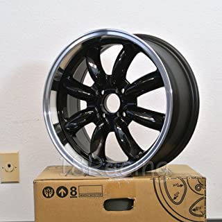 4 PCS ROTA RB WHEELS 17X7.5 PCD: 4x100 OFFSET: 45 HB:56.1 BLACK WITH POLISH LIP