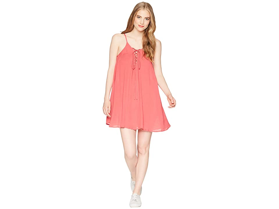 Roxy Softly Love Solid Dress Cover-Up (Holly Berry) Women
