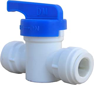 LASCO 19-6503 Straight Shut Off Valve Push-in Fitting with 3/8-Inch OD Tubing, Plastic