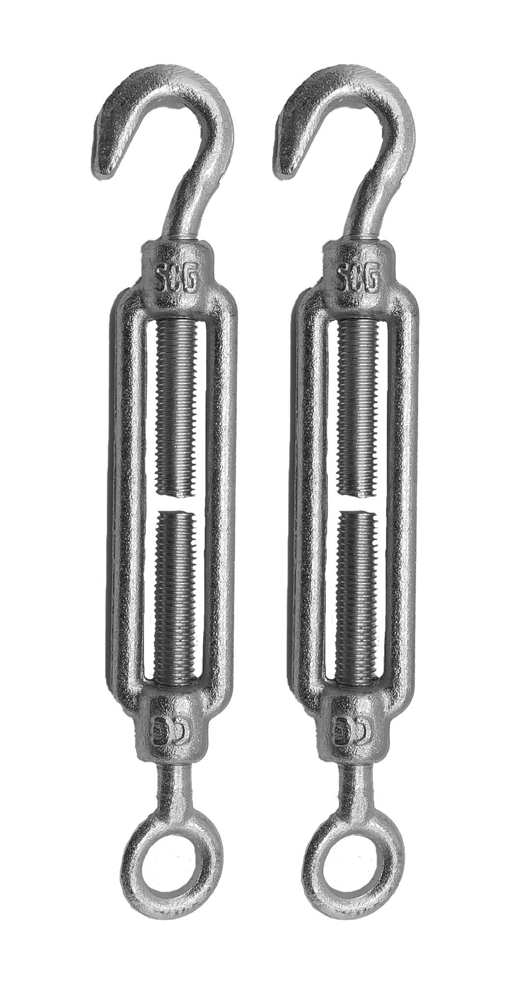 Wire Tensioner 6 x 110 mm Strainer M6 Stainless Steel DIN 1480 Hook Rope Cable Tension Heavy Duty 2 Pack of 2 pcs
