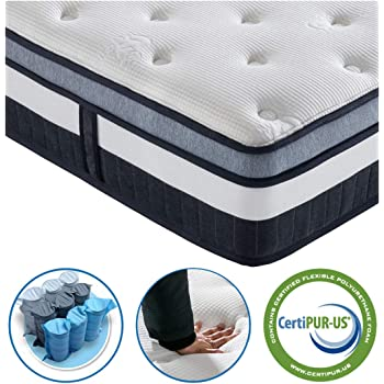 Vesgantti 5FT King Size Mattress, 11 Inch Pocket Sprung Mattress King Size with Breathable Foam and Individually Pocket Spring - Medium, Box Top Collection