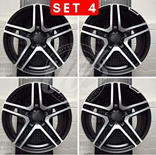 NEW 20 Inch x 8.5/9.5 S65 AMG Style Staggered Wheels Rims 5 lug Black Machine Face compatible with MERCEDES BENZ Set of 4