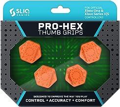 Best Sliq Gaming Xbox Pro-Hex Thumb Stick Grips – Xbox Series X S & Xbox One - Orange Review