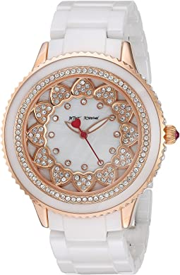 Betsey Johnson - BJ00622-03 - Pave Stones White Ceramic Band