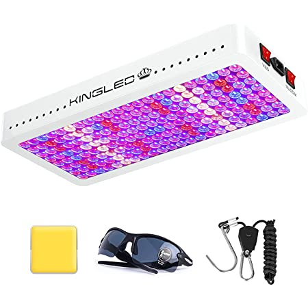 KingLED Newest 2000w LED Grow Lights with LM301B LEDs and 10x Optical Condenser 5x5 ft Coverage Full Spectrum Grow Lights for Indoor Hydroponic Plants Veg Bloom Greenhouse Growing Lamps