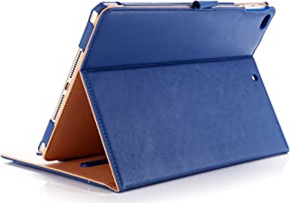 "ProCase iPad 9.7""(旧型)保護ケース スタンド機能 ビンテージデザイン 保護カバー 書類やカード用ポケット付き 適用機種:iPad 9.7""(2017 2018)/ iPad Air 2 / iPad Air - ネービー"
