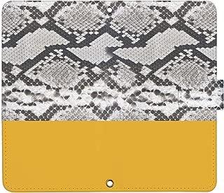 Xperia XZ SOV34 ケース [デザイン:1.パイソンYE/マグネットハンドあり] パイソン柄 プリント 手帳型 スマホケース カバー エクスペリア au sov34