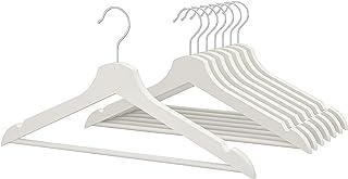 IKEA(イケア) BUMERANG/ブメラング 木製無垢材洋服ハンガー 肩部分凹み スーツ・ジャケット・キャミソール向け (2セット(16本), ホワイト)