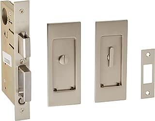 Baldwin PD006.PRIV Santa Monica Privacy Pocket Door Set with Door Pull from the, Satin Nickel
