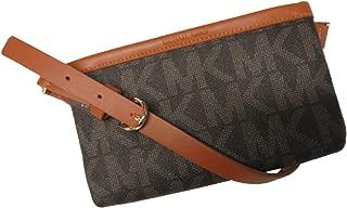 Michael Kors MK Signature Belt Wallet Fanny Pack,Travel Leather Small