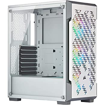 Corsair iCUE 220T RGB Airflow Tempered Glass Mid-Tower Smart Case, White
