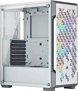 Corsair Icue 220T RGB جریان هوا شیشه ای هوشمند ، برج سفید ، سفید