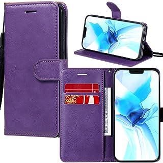 Capa carteira XYX para Galaxy S6, capa flip de couro PU de cor sólida para Samsung Galaxy S6 G920 (roxo)