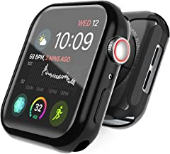 Yestan iWatch 4 Case 44mm with TPU Screen Protector 44mm -Anti-Scratch Protective Case High Definition Clear Cover Ultra-Thin Sensitive Touch for iWatch 44mm Series 4(Black, 44mm)