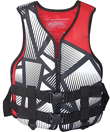 RiamxwR Aquatic Sports Lifevest for Adults, Lightweight Life Jackets Waistcoat Surfing Boating Swimming Beach Water Sports Supplies