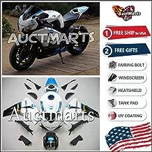 Auctmarts Injection Fairing Kit ABS Plastics Bodywork with FREE Bolt Kit for Honda CBR1000RR CBR 1000 RR 2008 2009 2010 2011 White Blue Cyan Black Konica Minolta (P/N:1m45)