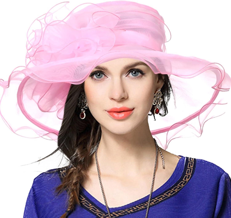 VECRY Fascinating Tea Party Church Dress Bridal Shower Wedding Derby Hat