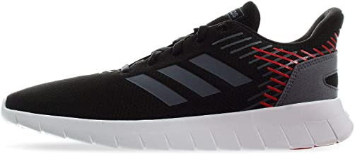 adidas Asweerun, Men's Road Running Shoes, Black (Core Black/Onix/Scarlet), 43 1/3 EU