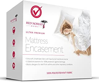 Red Nomad Waterproof Zippered Encasement Medical Grade Bed Bug Proof & Allergy Reduction Mattress Protector – King Size