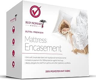 Waterproof Zippered Encasement – Allergy Reduction Mattress Protector – Queen Size