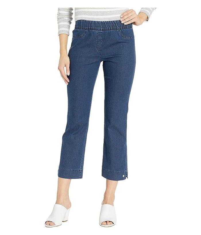 Elliott Lauren Stretch Denim Pull-On Pants with Grommet Detail in Blue (Blue) Women's Jeans