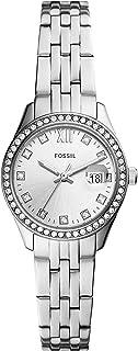 FOSSIL Reloj Analógico para De Las Mujeres de Cuarzo con Correa en Acero Inoxidable ES5039