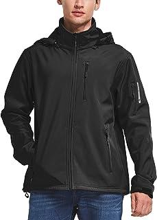 BALEAF Men's Softshell Jacket Waterproof Windproof Outdoor Cycling Walking Coat