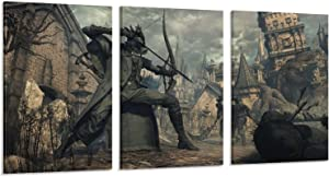 Room Decor Posters Games Bloodborne Old Hunters 5 Pieces Bedroom Decoration Paintings Canvas Art Poster and Wall Art Picture Print Modern Family Bedroom Decor Posters 12×18inch(30×45cm)