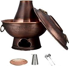 Grill électrique portable, Safe Cookware Fondue Friteuses Chinois Ancien Charbon Charbon Charbon Charbon, Vintage Cuivre C...