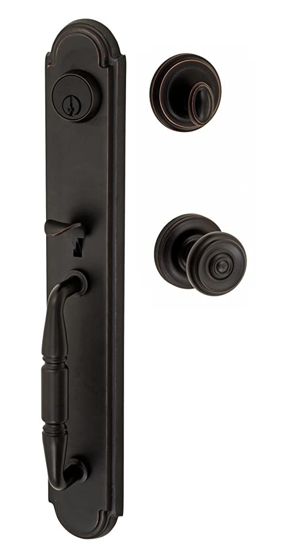 Fusion Hardware H-38-S2-0-ORB Cambridge Ravinia Handleset with Two-Piece Interior, Oil Rubbed Bronze