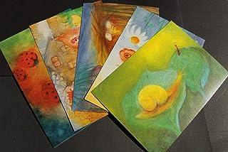 5 färger barnpostkort