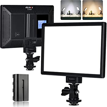 VILTROX L116T Key Light LED Video Light Kit,3300K-5600K On Camera Video Light Video Conference Live Broadcast Light with NP-F550 Lithium Battery
