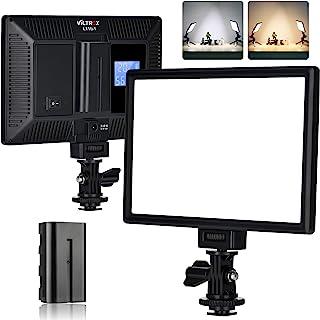 VILTROX L116T RA CRI95 Super Slim LED Light Panel Digital Camera,3300K-5600K LED Video Light Panel, LCD Display Screen,Col...