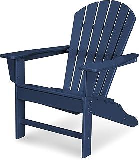 POLYWOOD SBA15NV South Beach Adirondack Chair, Navy