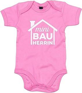 shirtdepartment Shirtdepartment - Baby Body - Mini Bauherrin rosa-weiss 50-62