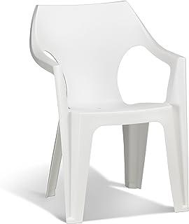 Keter - Silla de jardín exterior Dante High Back Color blanco