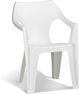 Keter - Silla de jardín exterior Dante High Back, Color blanco ...