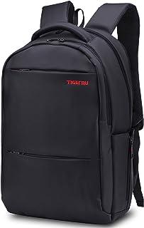 Mochila muy grande, impermeable, diseño de hombre y mujer, ocio, trabajo y escuela, compartimento para ordenador portátil 18.4 tableta/iPad 15,6 pulgadas, color negro