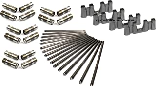 Roller Hylift Johnson Lifters TRAYS & BOLTS & Push Rods compatible with 1997-2012 Chevy 5.3 5.7 6.0 NON-AFM LS1 LS2 LS3 LS7