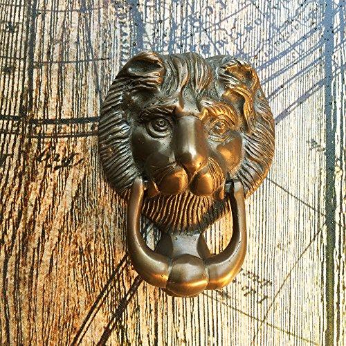 Antikas - Türklopfer Messing Löwe - Haustür Klopfer Klingel Tür Klopfer wie antik